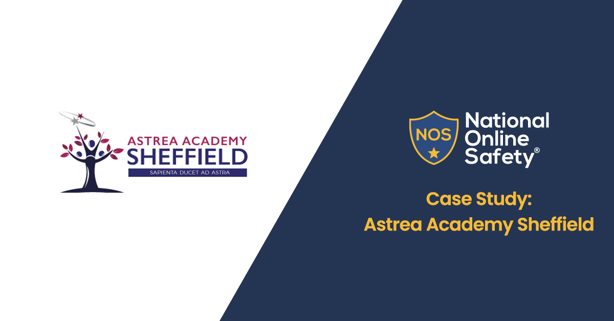 Astrea Academy Sheffield Logo, next to page title with national education group logo