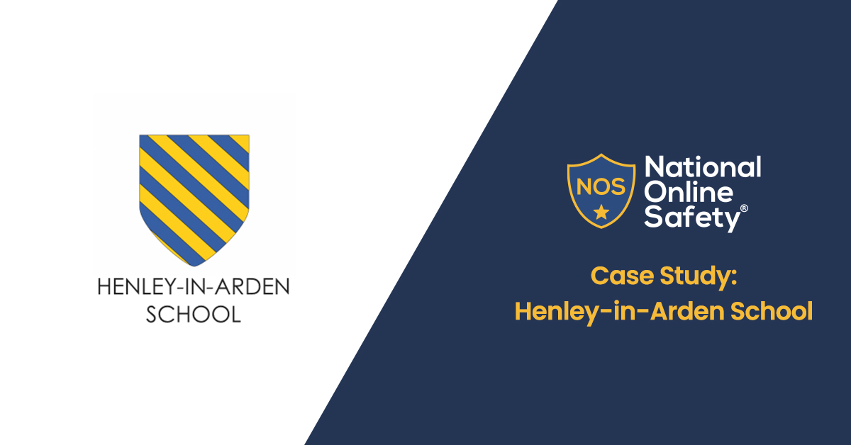 Henley-In-Arden School crest, next to the National Online Safety logo and page title