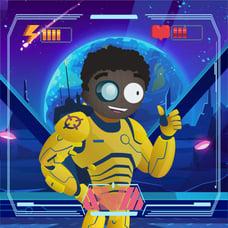 Cartoon character online gaming