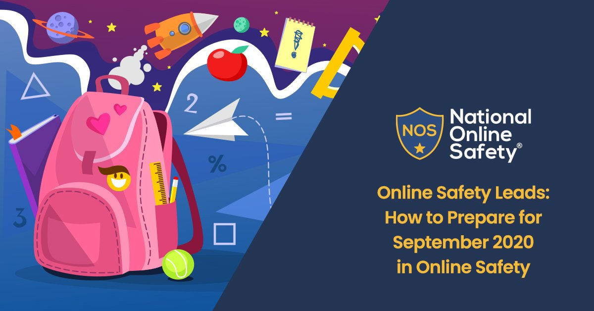 colourful illustration of a child's backpack, next to page title and National Online Safety logo
