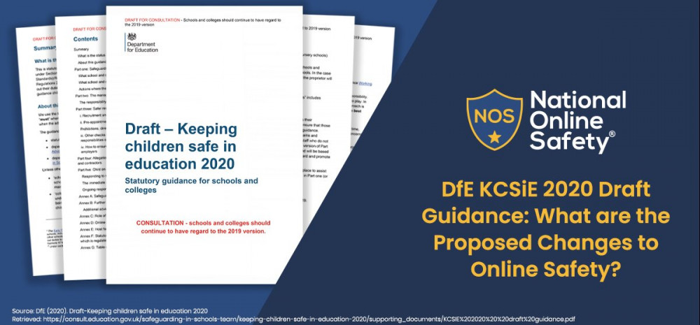 DfE KCSiE 2020 Draft Guidance: What are the Proposed Changes to Online Safety?